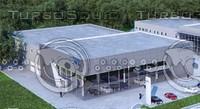 3d model auto dealer centre