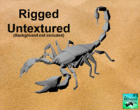 scorpion rigged untextured 3d ma
