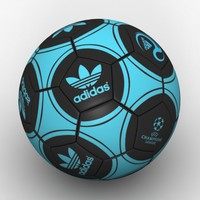 3d model adidas soccer ball