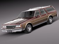 3d model 1978 wagon estate