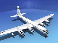 superfortress boeing b-50 bomber 3d model