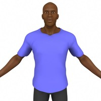 african character 3d ma