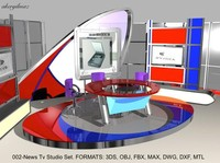 max news virtual sets stage