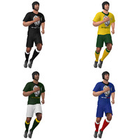 Rugby player LOD3 Rigged Pack