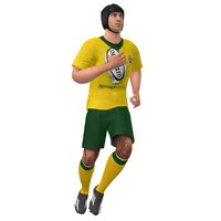 3d rigged rugby player 2 model