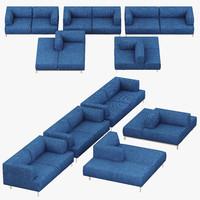 living divani metrocubo 3d model