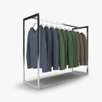 3d model rack hoodies