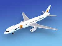 3ds max airline boeing 757 757-200