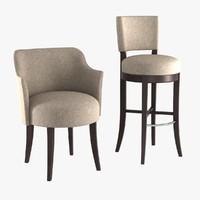 3d chairs pastille model