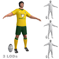 Rugby Player 2 LODs