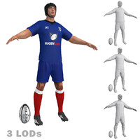 3ds max rugby player