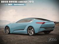 buick riviera concept environment 3d max