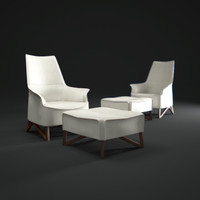 3d model giorgetti-mobius-armchair
