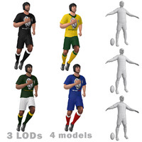 3ds max rigged rugby player