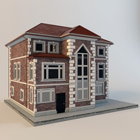 cottage house roof 3d ma