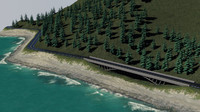 3d model coast road version 2