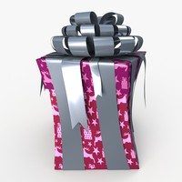 3d model of christmas gift present box