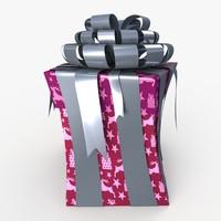 3d model of christmas gift present box