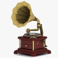 3ds max gramophone