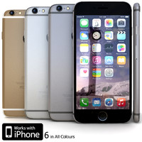 3d apple iphone 6 model