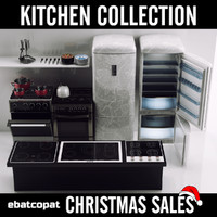 Collection of kitchen tools and appliances