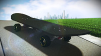 3d skateboard skate model