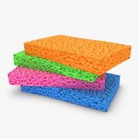 sponge 4 colors 3d max