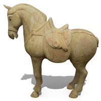 3ds figurine horse statuettes