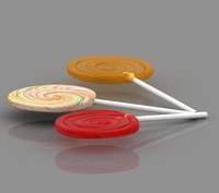 3ds max lollipop candy sweet