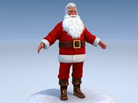 3d model santa rigged claus