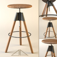 obj adjustable bar stool