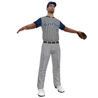 3d baseball player 2 model