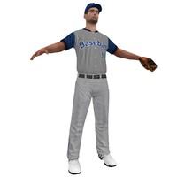 3d baseball player 2 model