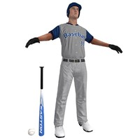 baseball player ball 3d model