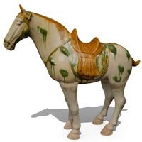 figurine horse statuettes 3d max