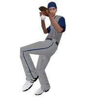 rigged baseball player 2 3d model