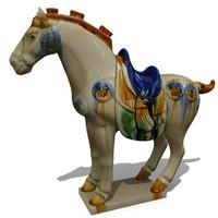 3d figurine horse statuettes model