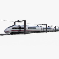 Siemens AVE S103 High Speed Train - Low Poly