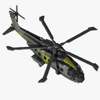 aw101 joint support helicopter 3d model