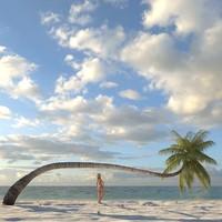 3dsmax coconut palm tree
