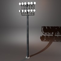 stadium lighting 3d c4d