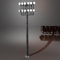stadium lighting 3d c4d