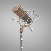 3d 3ds microphone mic studio