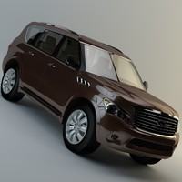 3d qx80 infiniti model