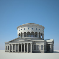 3ds max classical rotunda