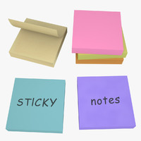 3d model of sticky notes