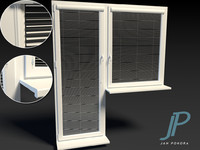 3d model of plastic windows