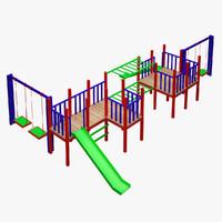 3d kid s playground