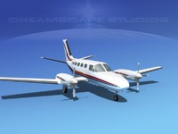 3d propellers cessna 441 conquest model