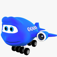 3ds max cartoon airplane